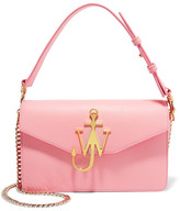 J.W.Anderson Logo Leather Shoulder Bag - Baby pink
