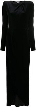 Giorgio Armani Long-Sleeved Velvet Dress