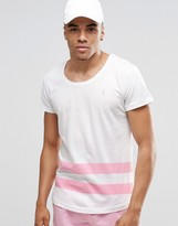 Ringspun Scoop Neck Stiped Beach T-shirt Co-ord