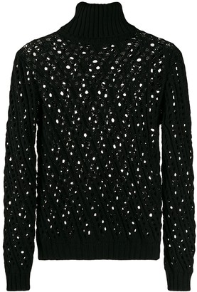 Philosophy di Lorenzo Serafini crochet detail jumper