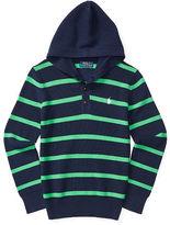 Ralph Lauren Striped Cotton Hooded Sweater