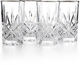 Godinger Dublin Platinum Highball Glasses, Set of 4