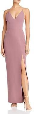 WAYF Maisle Plunging Slip Maxi Dress