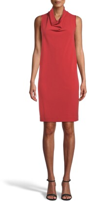 Anne Klein Sleeveless Cowl Neck Shift Dress