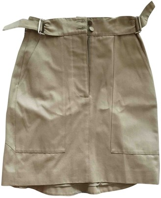 Alexander McQueen Beige Cotton Skirt for Women