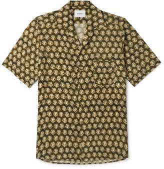 Nanushka Ville Camp-Collar Floral-Print Crepe De Chine Shirt