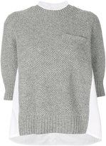 Sacai side panel sweater