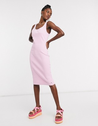 Tommy Jeans sleeveless bodycon jersey dress in pink