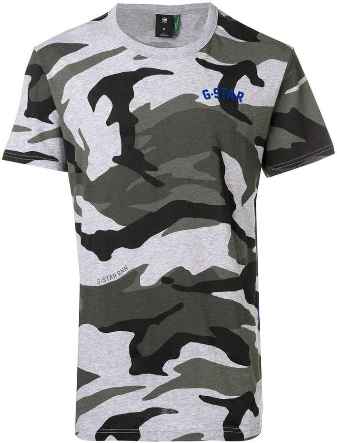 G Star Research camouflage print T-shirt