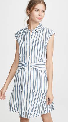 Derek Lam 10 Crosby Sleeveless Shirtdress with Twist Waist Detail