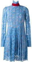 MSGM high neck lace dress - women - Cotton/Polyamide/Polyester - 42