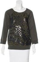 Pinko Camouflage Print Brocade Sweatshirt