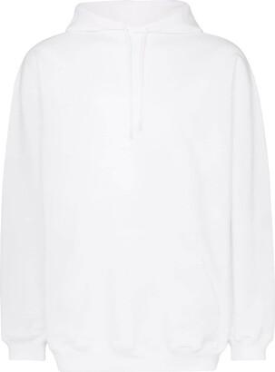 Balenciaga Logo Print Oversized Hooded Jumper