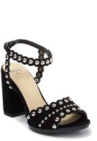 Butter Shoes Hetty Studded Suede Block Heel Sandal