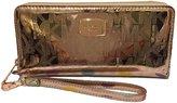 Michael Kors Zip Around Wallet metallic gold MSRP$158
