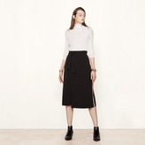 Maje Wraparound skirt with side bands