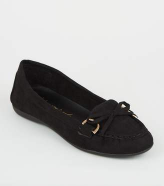 New Look Wide Fit Bow Front Loafers