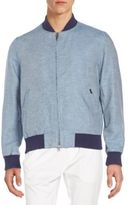 Gant Cotton & Linen Chambray Bomber Jacket