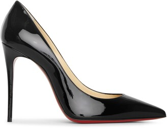 Christian Louboutin Kate 100 black patent pumps