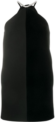 David Koma Halterneck Two-Tone Dress