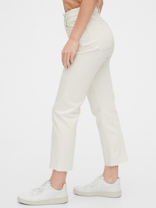 Gap High Rise Curvy Cheeky Straight Jeans with Raw Hem