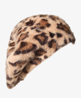 Forever 21 Fuzzy Leopard Beret