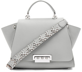 Zac Posen Eartha Iconic Soft Solid Top Handle in Gray.