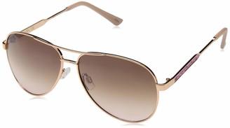 Jessica Simpson Women's J5704 Metal Aviator Sunglasses with 100% UV Protection 60 mm