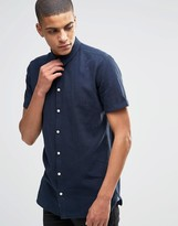 Minimum Linen Shirt With Short Sleeves In Slim Fit