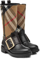 Burberry Boots with Check Printed Fabric