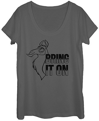 Fifth Sun Women's Tee Shirts CHARCOAL - Emperor's New Groove 'Bring It On' Tee - Women & Juniors