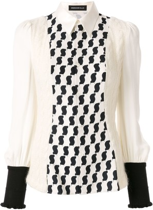 Undercover Printed Knit Panelled Blouse