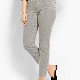 Talbots Denim Slim Ankle - Curvy Fit/Railroad Stripe