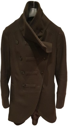 Patrizia Pepe Brown Wool Coat for Women