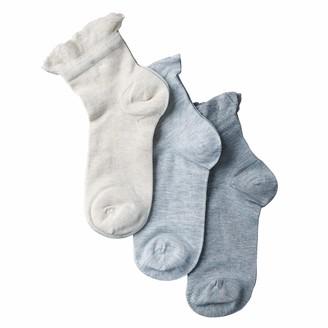 Lemon Women's 3 Pack Ruffle Anklet Sock