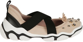 RED Valentino Embellished Slip-on Sneakers