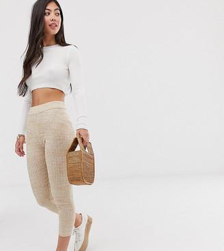 ASOS DESIGN Petite knitted leggings in twist yarn