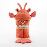 "Baby Aspen lobster laughs"" hooded bath towel"