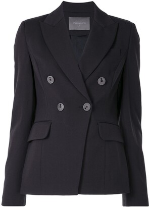 Lorena Antoniazzi Peak Lapel Double-Breasted Blazer
