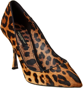 Dolce & Gabbana Pony Hair & Leather Pump