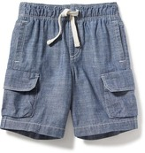Old Navy Chambray Cargo Shorts for Toddler