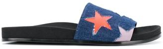 Stella McCartney Stars denim slides