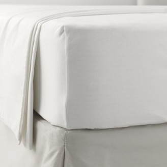 The White Company Jersey Fitted Sheet, White, Single