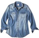 Mossimo Long Sleeve Denim Shirt - Blue