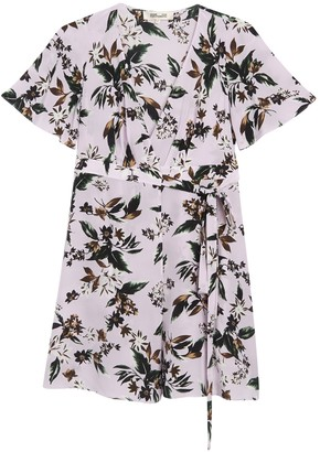 Diane von Furstenberg Kathy Floral Wrap Silk Dress