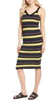 Splendid Women's Jungle Stripe Midi Tank Dress