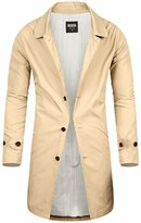 Mmoriah Men's Luxury Pure Cotton Single Trench Mac Coat