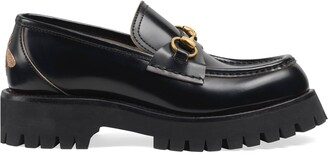 Gucci Leather lug sole loafer
