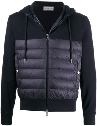 Moncler Zipped Panelled Hoodie Cardigan