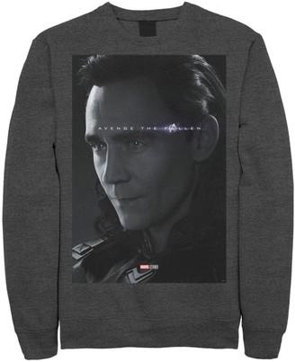 Marvel Men's Avengers Endgame Loki Avenge The Fallen Poster Tee